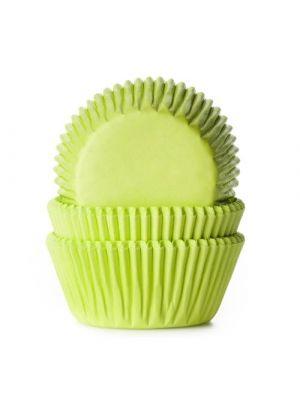 Lime vihreät muffinivuoat, 50 kpl.