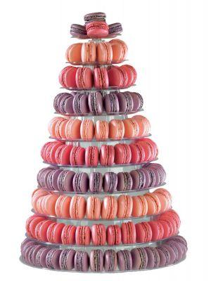 Korkea Macarons-tornitaso, 10 tasoa.
