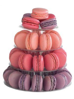 Macarons-torniteline - 4 tasoinen + suojakotelo