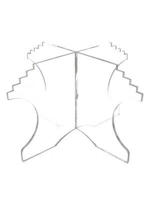 Jalusta macarons-tornitelineeseen, Kirkas, 16 cm.
