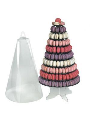 Macarons-tornitelineen suojakupu. Sopii ison 10-tasoinen macarons-tornitelineen kanssa.