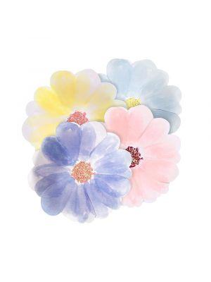 Meri Merin kukan muotoiset pahvilautaset, 8 kpl.