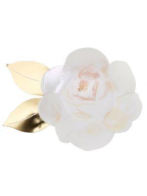 Meri Merin valkoiset ruusun muotoiset pahvilautaset, 8 kpl.