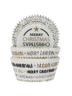 """Jouluiset muffinivuoat, """"Merry Christmas"""", 50 kpl."""