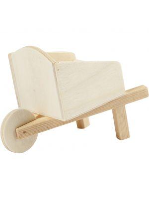Pieni puinen miniatyyri kottikärry tonttumaailmaan tai nukkekotiin!