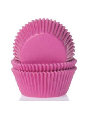 Fuksia mini-muffinivuoat, 60 kpl.