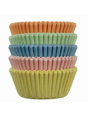 Mini-muffinivuoat, 100 kpl, pastellinväriset.