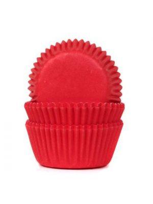 Punaiset mini-muffinivuoat, 60 kpl.