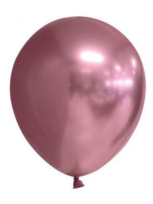 Ruusukultaiset kromi-ilmapallot, 6 kpl.