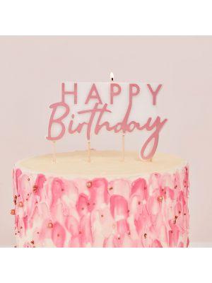 Kakkukynttilä, Happy Birthday, Ruusukulta