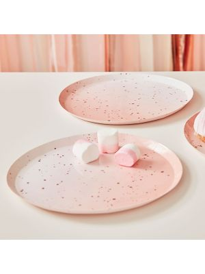Pahvilautaset, Pink Sparkle, 24cm, 8kpl