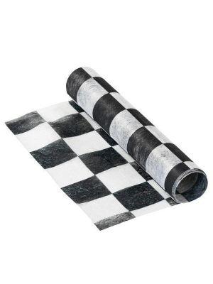 Valko-musta ruudullinen kaitaliina, 2 m.