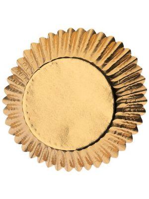 Kultaiset folioidut Wiltonin muffinssivuoat, 24 kpl.