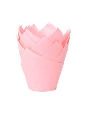 """Hennon vaaleanpunaiset muffinivuoat """"tulppaani""""."""
