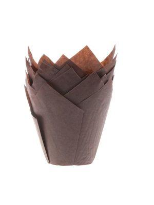 """Ruskeat muffinivuoat """"tulppaani"""", 36 kpl."""