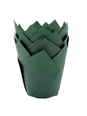 """Vihreät muffinivuoat """"tulppaani"""", 36 kpl."""