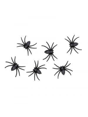 Hämähäkit, Musta Glitter, 6kpl