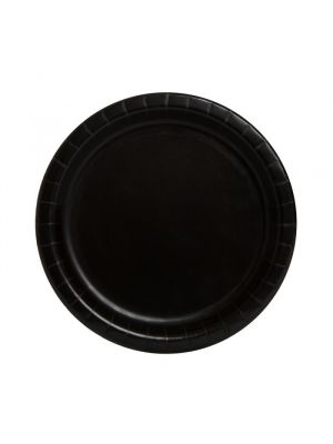 Mustat pahvilautaset, 17 cm,  8 kpl.