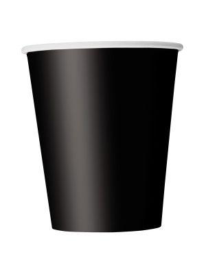 Mustat pahvimukit, 8 kpl.