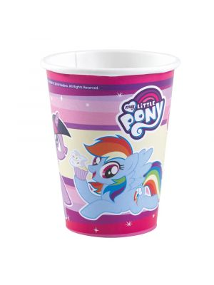 Suloiset My Little Pony pahvimukit.