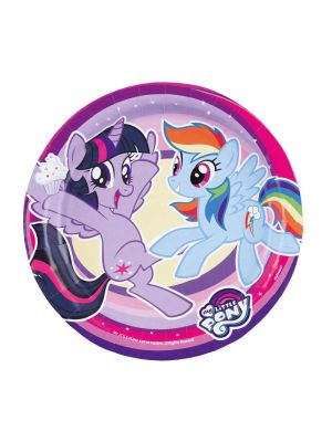 Pahvilautaset, My Little Pony, 23cm, 8kpl