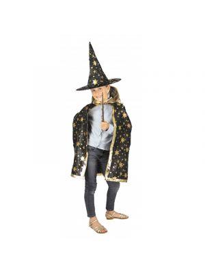 Naamiaisasu lapsille 7 - 9 v, noitakoulun oppilas, esimerkiksi Harry Potter juhliin.