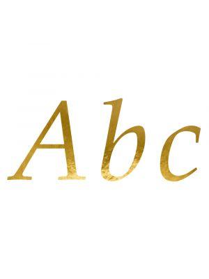Kultaiset kirjaintarrat