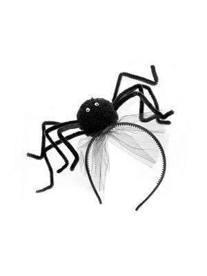 Hämähäkki hiuspanta, musta. Halloween.