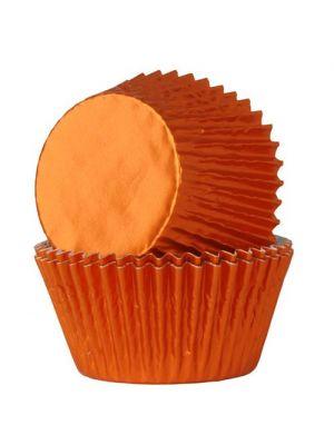 Oranssit säihkyvät folio muffinivuoat, 24 kpl.