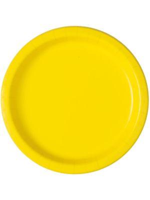 Keltaiset pahvilautaset, 17 cm, 20 kpl