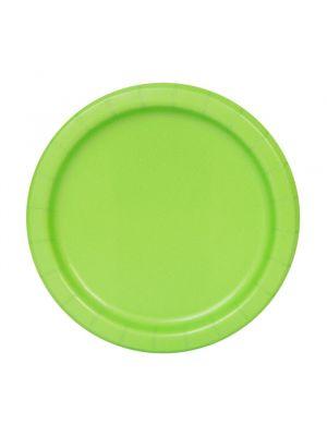 Pahvilautaset, Lime Vihreät, 17cm, 8 kpl