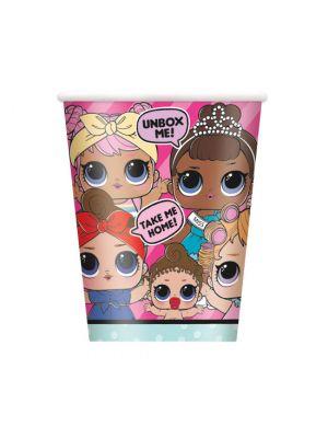 LOL Surprise pahvimukit LOL hahmoilla, 8 kpl