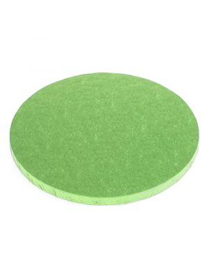 Vihreä paksu kakkualusta kimalluksella.