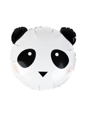 Mustavalkoinen Panda foliopallo, 37 cm.