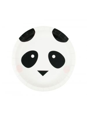 Pienet pahvilautaset, Pandan kasvot, 19 cm, 8kpl