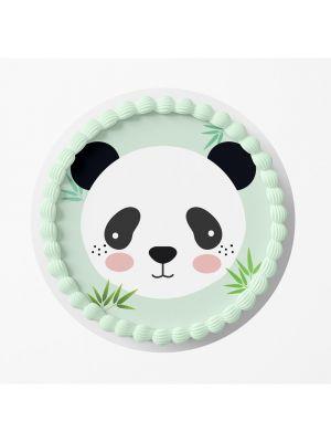 Panda kakkukuva synttärijuhliin.
