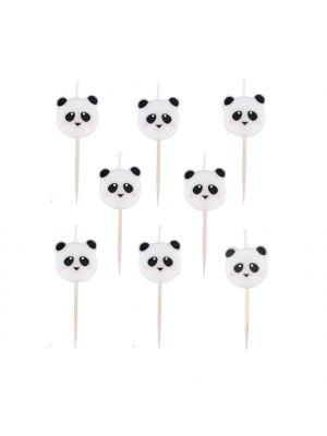 Panda-kakkukynttilät, 8 kpl.