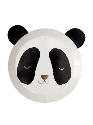 Meri Merin Panda-pahvilautaset, 8 kpl.