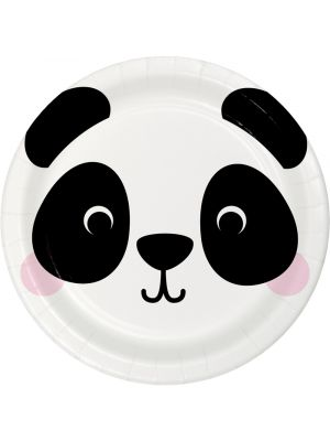 Pahvilautaset, Pandan kasvot, 22cm, 8kpl