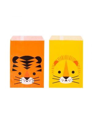 Paperiset lahjapussit, Safari Kissat,  tiikeri ja leijona.