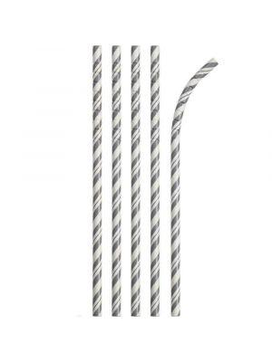 Paperipillit Eco-Flex, Harmaanraidalliset, 24kpl