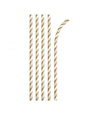 Paperipillit Eco-Flex, Vaaleanruskea-raidalliset, 24kpl