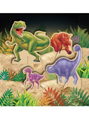 Upeat pöytäkoristeet dinosaurus-juhliin, 4 kpl.