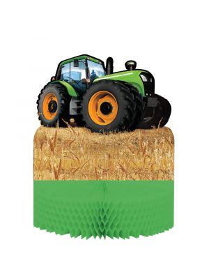 Traktori-hunajakenno pöytäasetelma.
