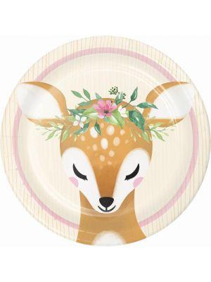 Bambi Kauris Pahvilautaset, Deer Little One, 17cm, 8kpl