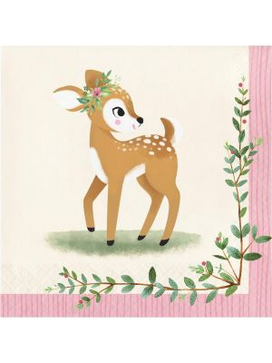 Suloiset bambi-servetit, 16 kpl.