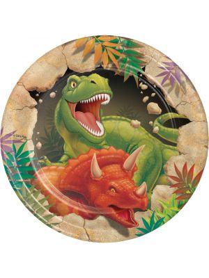 Dinosaurus kertakäyttölautaset, 8 kpl.
