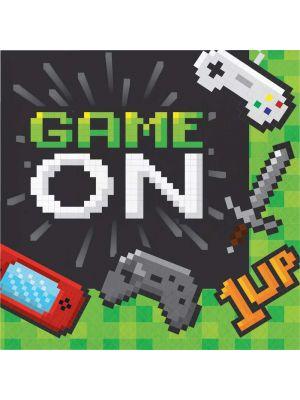 Peli-aiheiset lautasliinat, Game On, 16kpl