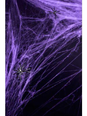 Violetinvärinen hämähäkinverkko, 60g. Halloween.