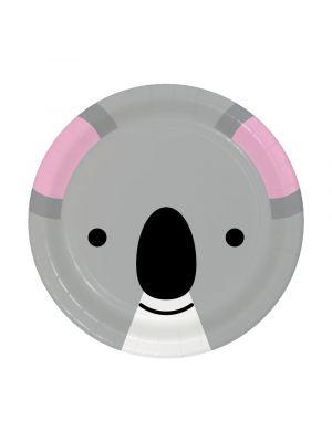 Pienet pahvilautaset, Tiikerin kasvot, 17 cm, 8kpl